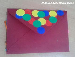 Manualidades infantiles: Sobre payaso para regalo