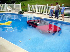 Miata in a pool