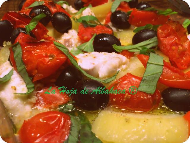 Merluza tomate patatas