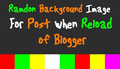 Thay đổi nền ngẫu nhiên cho blog khi refrest