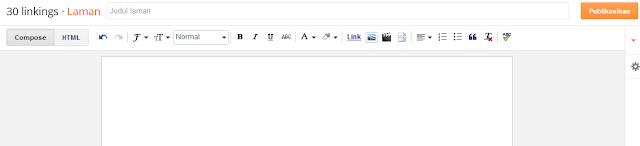cara bikin laman statis di blogspot