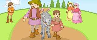 Una nueva fábula de Esopo: el hombre, el niño y el burro con moraleja