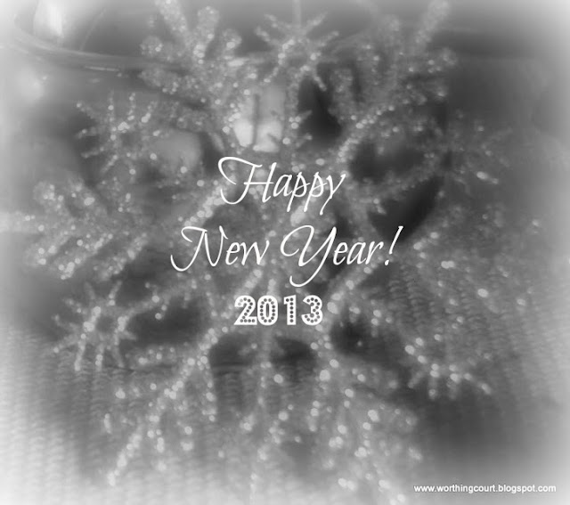 Happy New Year snowflake via Worthing Court blog