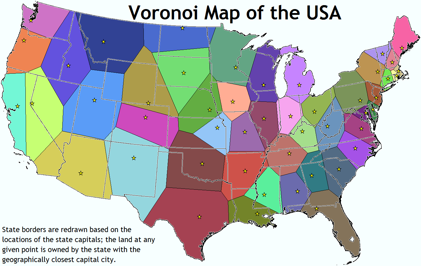 there are no good state capital pictures but i found this interesting states are re drawn based on capital location whatever the hell that means