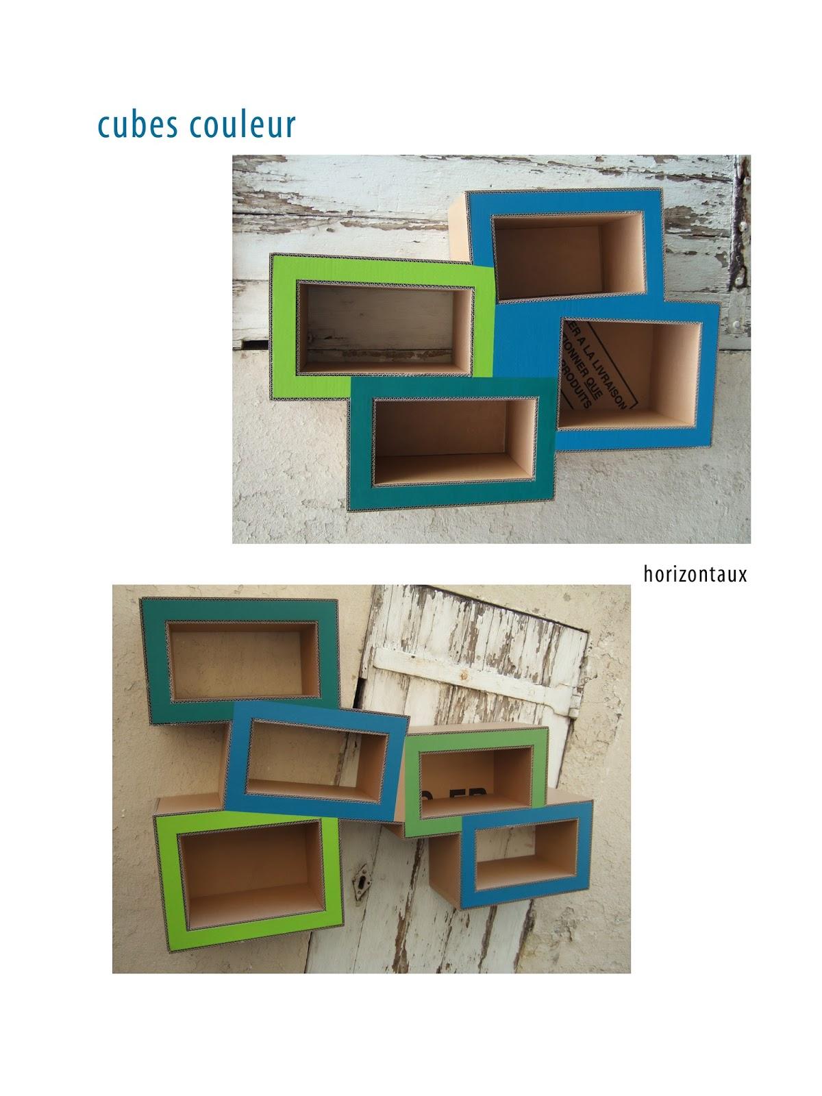 Juliadesign meuble en carton tag re en carton for Meuble pour ranger les livres