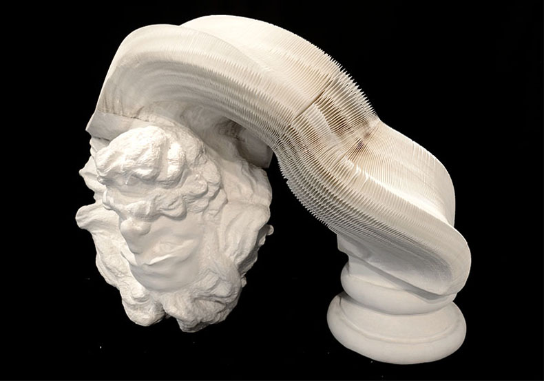 Las esculturas de papel flexibles de Li Hongbo
