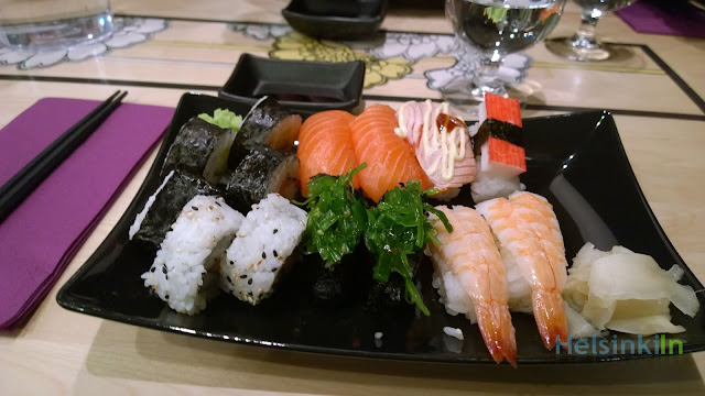 sushi for 10 € at Kita