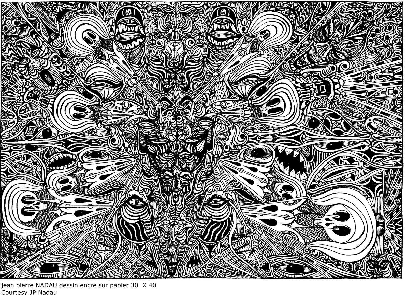 jean pierre nadau exposition - dessin encre de chine siphon