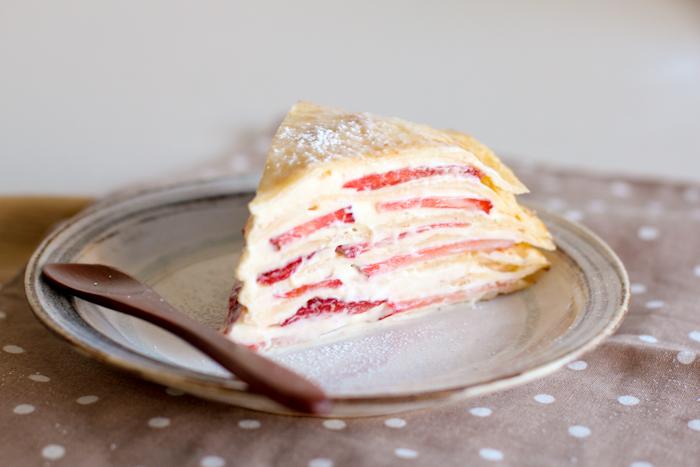 Green Cilantro: Strawberry Gâteau de Crêpes
