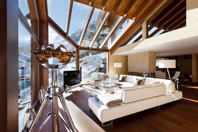 Picture of modern living room in the mountain home