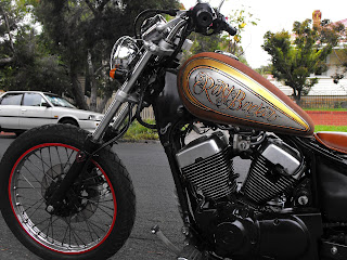Rust Bucket Morocycle fuel tank paint job hand painted harley davidson Sydney Australia