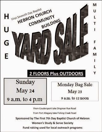 5-24/25 Hebron Church Yard Sale