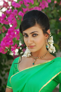 Actress Neelam Upadyaya Latest  Pictures in Green Saree  0001.jpg