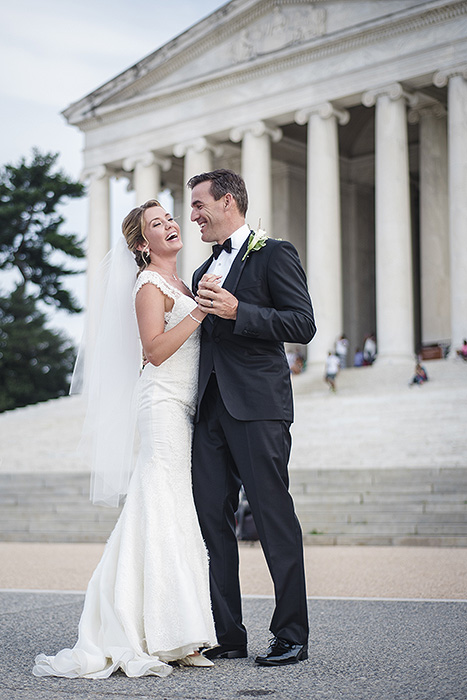 Jefferson Memorial Wedding Portraits