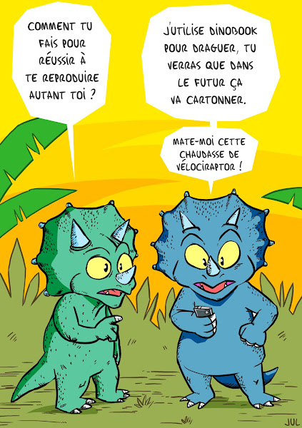 triceratops competition sexuelle dinosaure