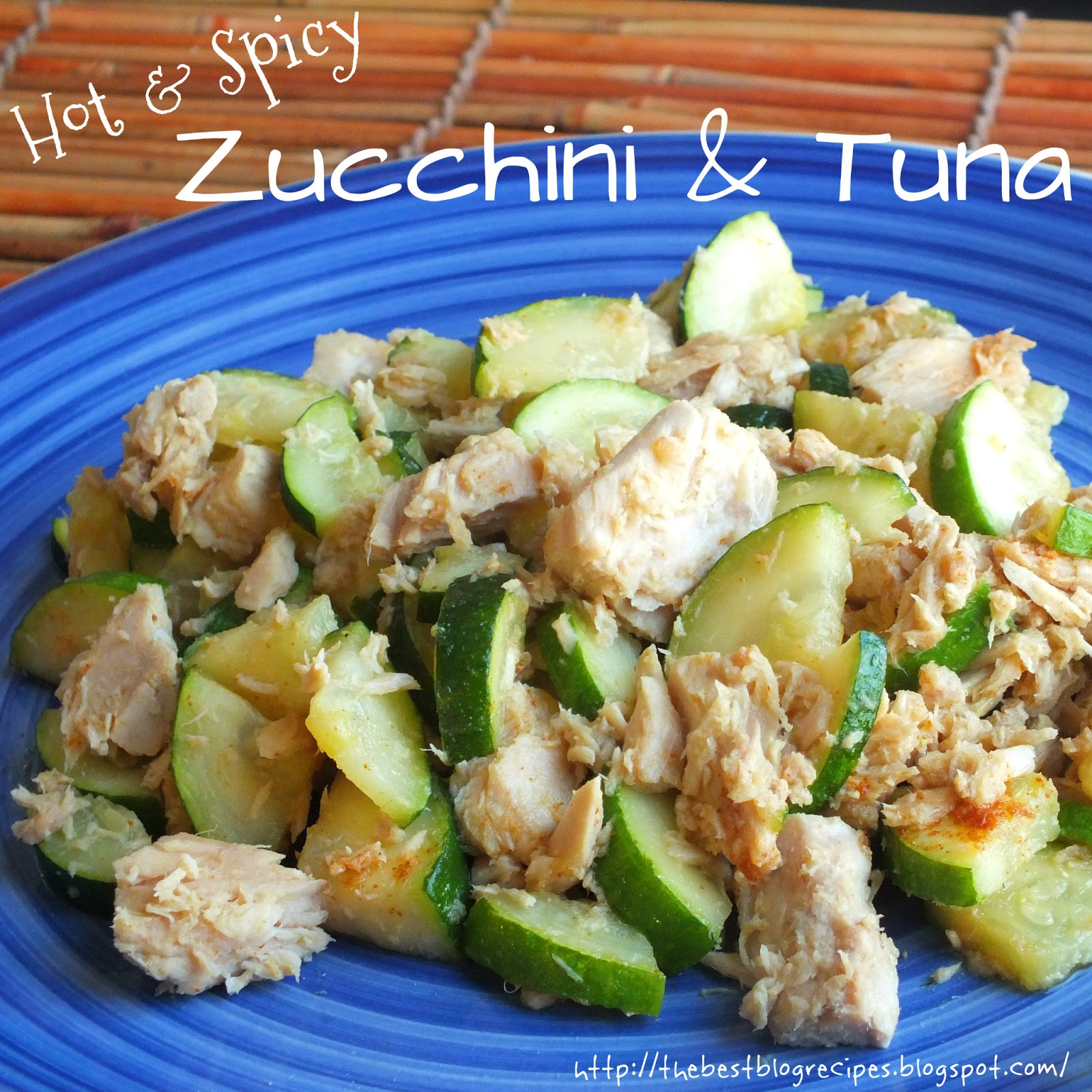 Healthy Zucchini & Tuna recipe from {The Best Blog Recies}