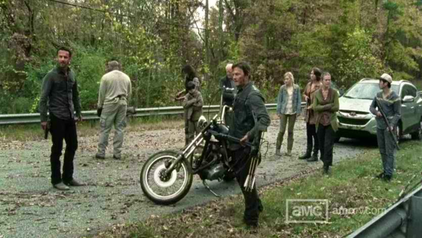 A captured scene from The Walking Dead