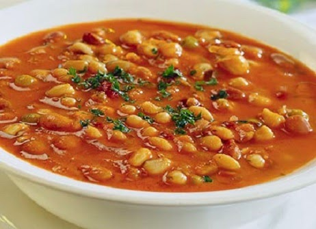 "Bean soup - famous ""fasolada"", Mediterranean Diet, The Cretan Diet,"