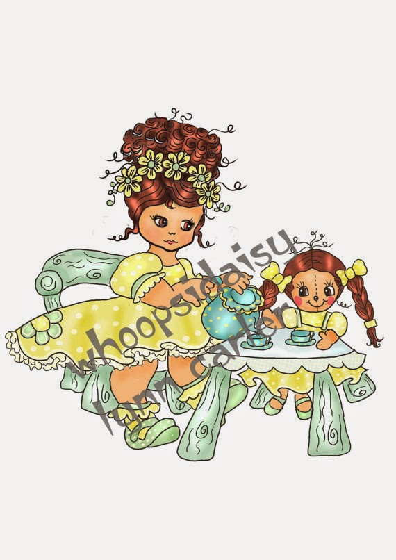 Whoopsi Daisy digi stamps now available on Etsy