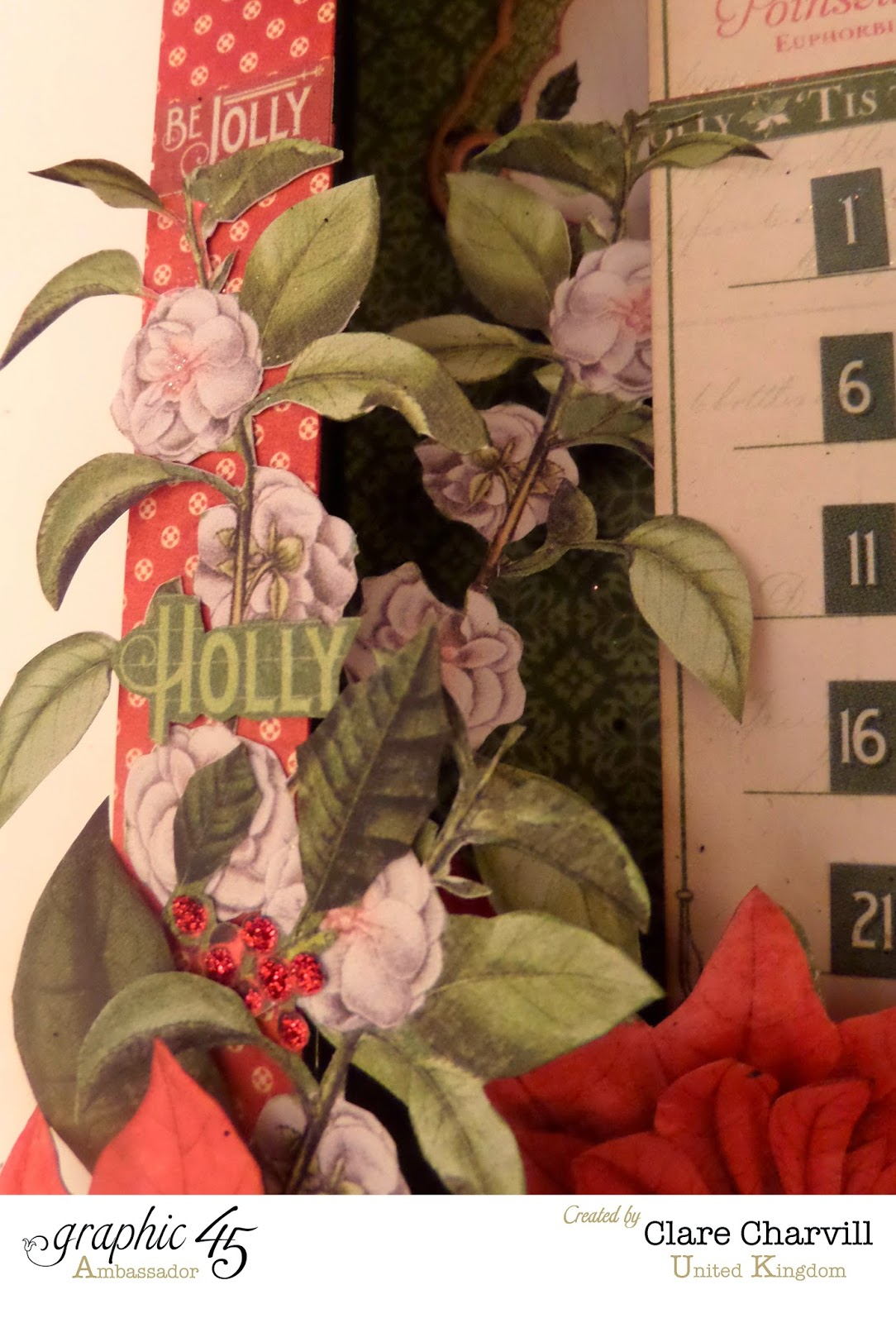 Time to Flourish Countdown to Christmas Advent Calendar  1 Clare Charvill Graphic 45