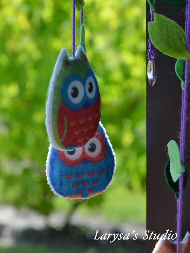 мягкая сова handmade