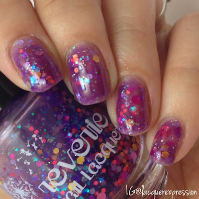 swatch of reverie nail lacquer polish berry sorbet