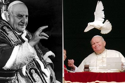 Pope John XXIII and Pope John Paul II to be sainted