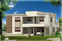 Flat Roof Contemporary House Plans