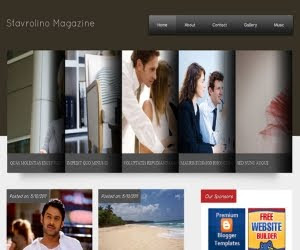 Stavrolino Magazine Blogger Template