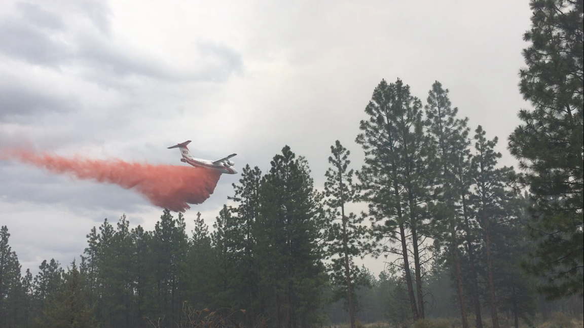 Retardant drop on Akawana Fire