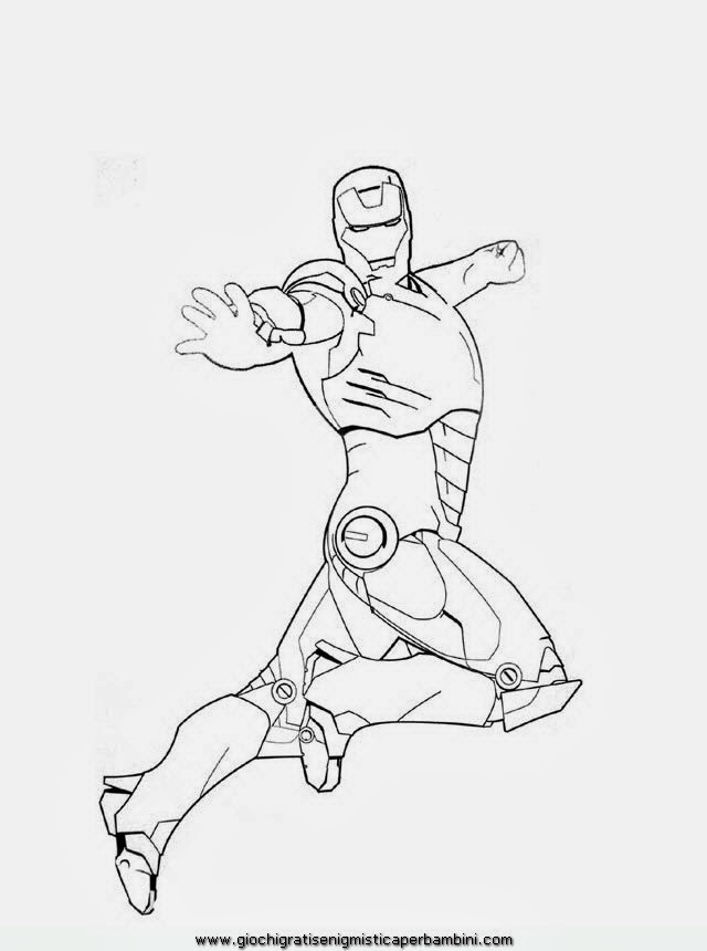 Iron man disegni da colorare for Disegni da colorare iron man