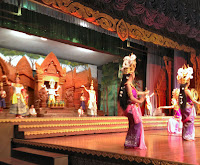 Thai dancers on stage