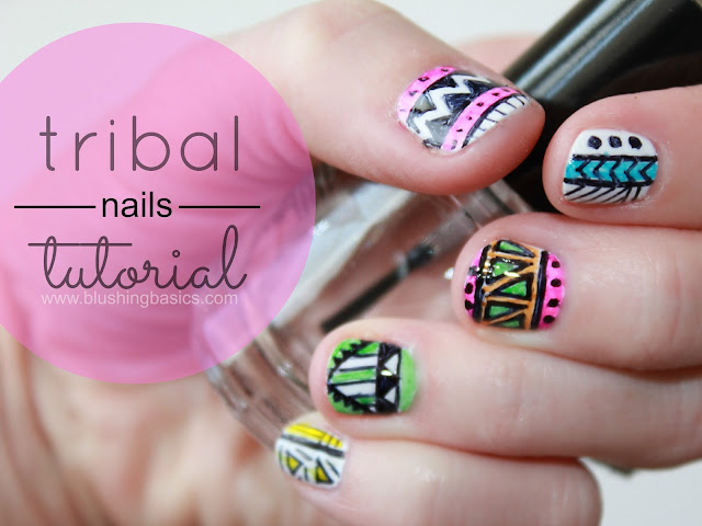 tribal nail art tutorials typically involve several colors of polish ...