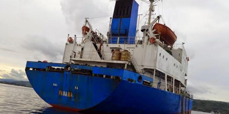 Kapal MV Hai Fa (Dokumentasi Kementerian Kelautan Dan Perikanan)