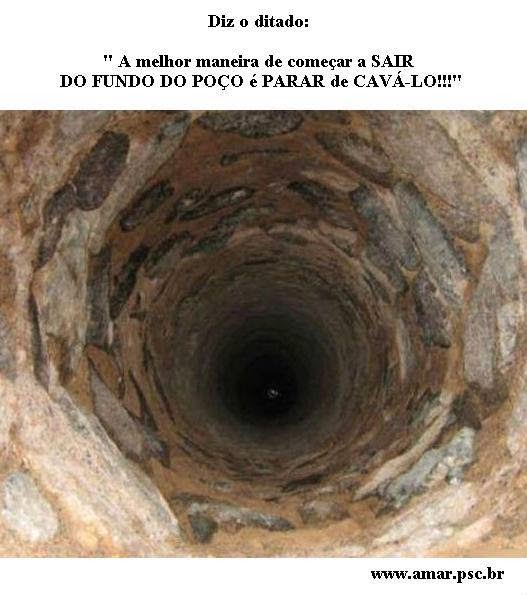 Saindo do fundo do poço...!