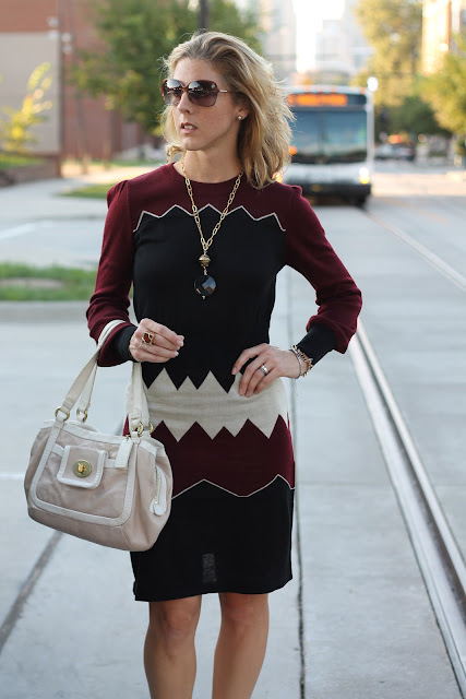 THML dress and necklace from Scout & Molly's, Ann Roth Shoes, Coach Bag, Blinde sunglasses, Melinda Maria, Tiffany, Diamonds Direct Rings.