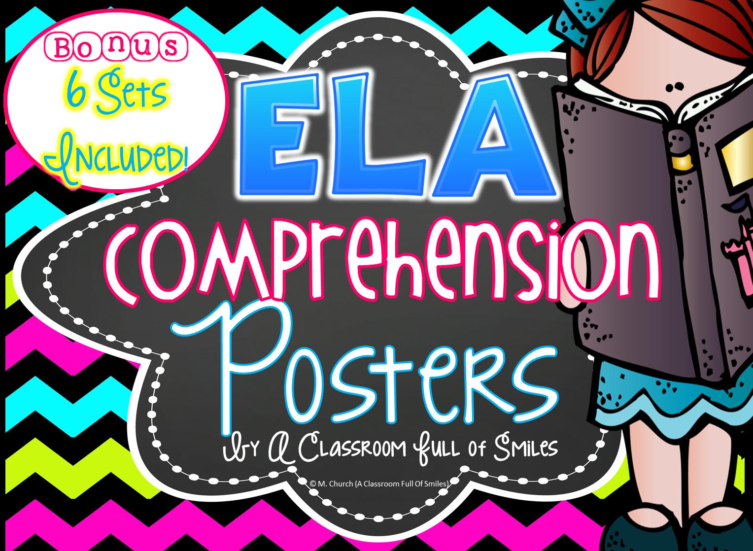 https://www.teacherspayteachers.com/Product/Reading-Comprehension-Posters-Bonus-6-Sets-Included-1256566