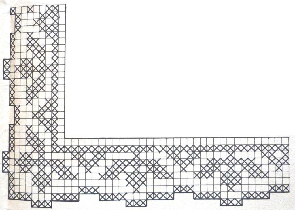 Кайма вязание филейное схемы 76