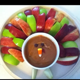 Turkey apples and caramel snack