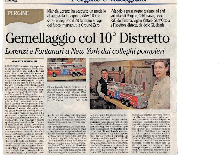 Articolo giornale Adige
