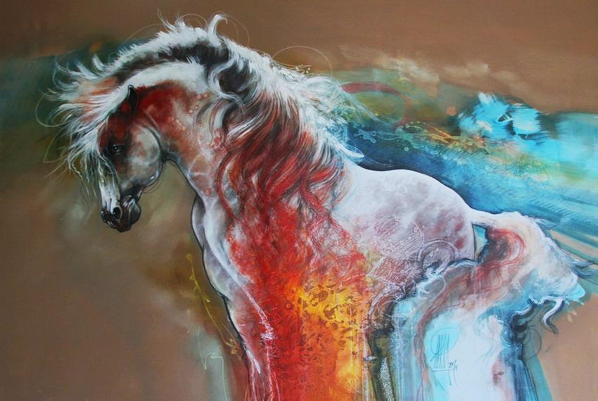 Im genes arte pinturas arte abstracto caballo en pintura for Fotos para cuadros de salon