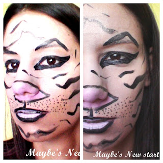 tiger halloween makeup tutorial face painting  smashinbeauty