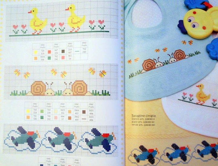 Grande raccolta di schemi e grafici per punto croce free for Ricami a punto croce per neonati