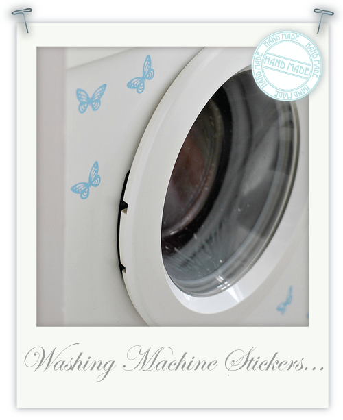 Washing machine stickers by Torie Jayne