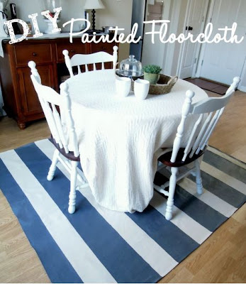 DIY Painted Floor Cloth
