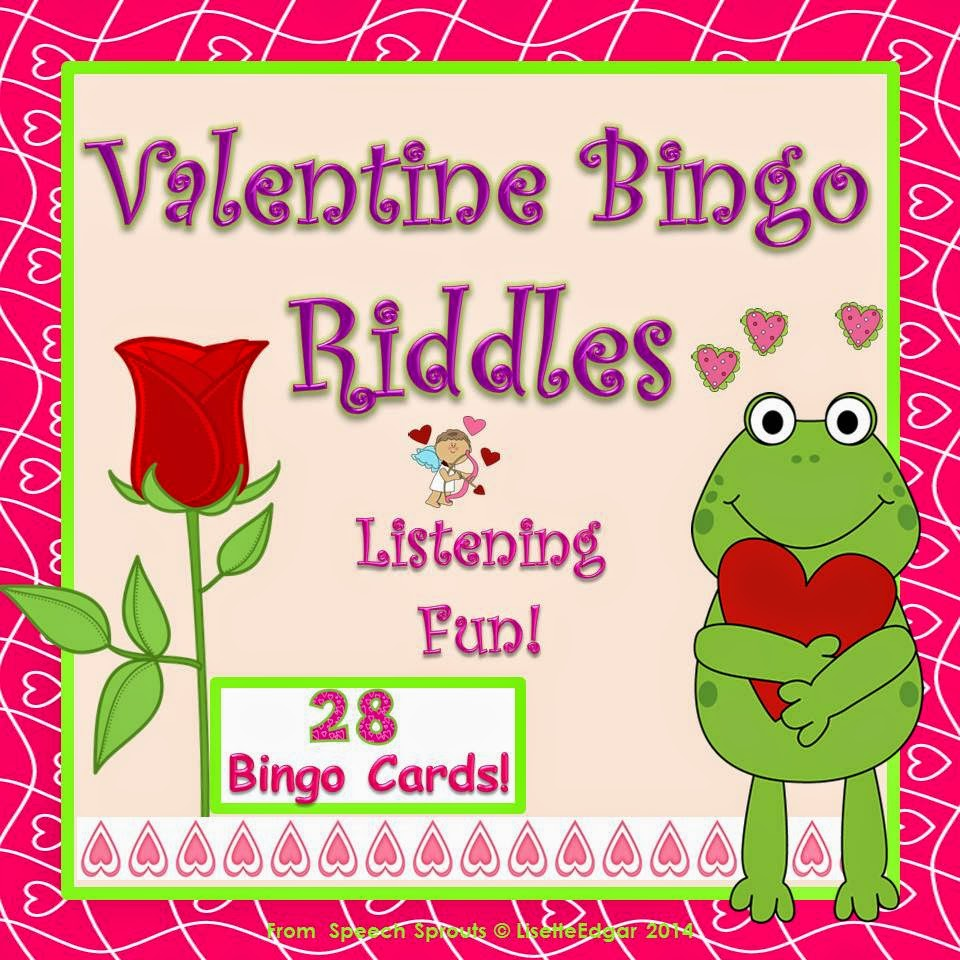 Uncategorized Valentines Day Riddles speech sprouts valentine blog hoppin for the love of bingo riddles