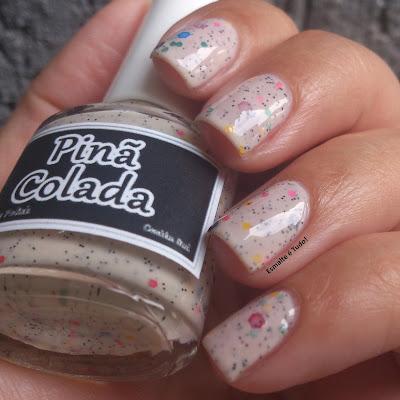 esmalte com glitter