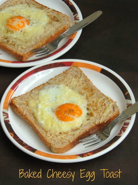 Bread toast, Baked Cheesy Egg Toast