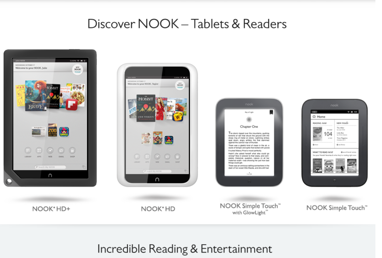 new nook hd nook tablet glowing nook simple touch