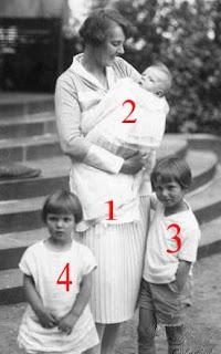 Princesse René de Bourbon Parme et trois de ses enfants